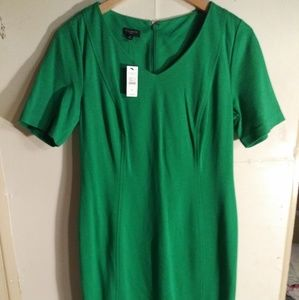 Talabots New Career Dress Short Sleeve Kelly Green